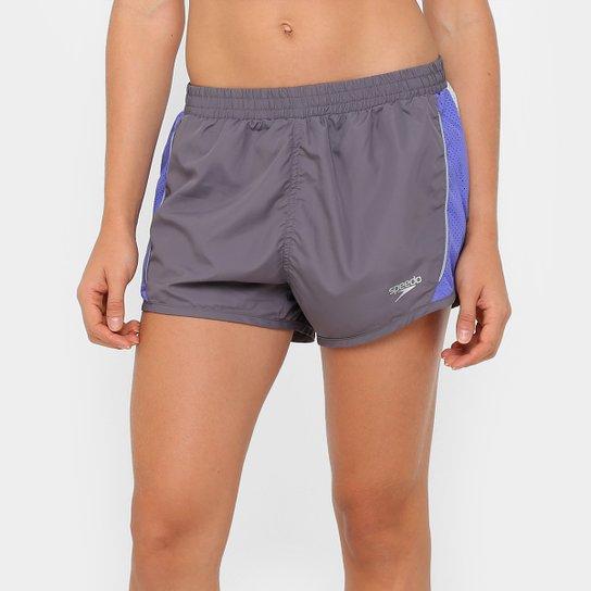 3ff3f978e Short Speedo Laser Girl Feminino - Cinza e Azul | Netshoes