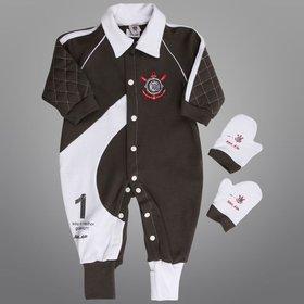 cc58f67364279 Conjunto Corinthians Infantil Camisa Polo e Bermuda   Netshoes