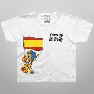 84b1f9b06d499 Camiseta FIFA Mascote Bandeiras Infantil