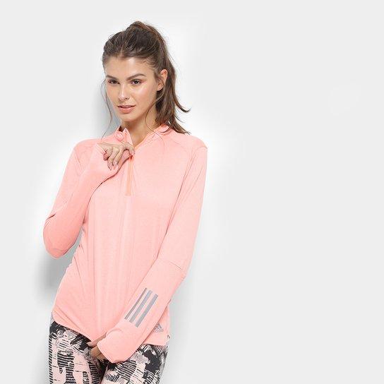 e480eb12b39 Blusa Adidas Rs Ls Zip Feminina - Compre Agora