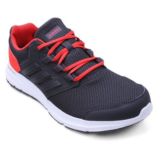 fef6cc4f7 Tênis Adidas Galaxy 4 Masculino - Chumbo e Vermelho - Compre Agora ...
