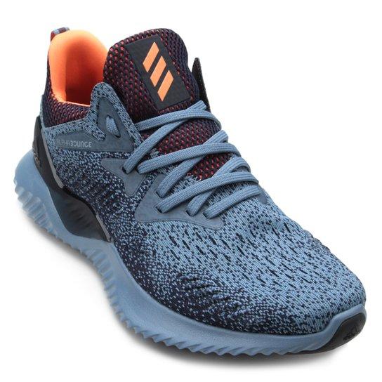 7c37e3dbac9 Tênis Adidas Alphabounce Beyond Masculino - Cinza e Azul - Compre ...