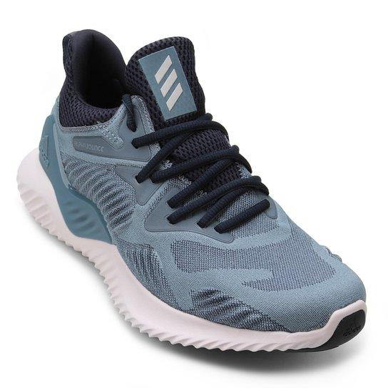 15f8b2ba13 Tênis Adidas Alphabounce Beyond Feminino - Cinza e Azul - Compre ...