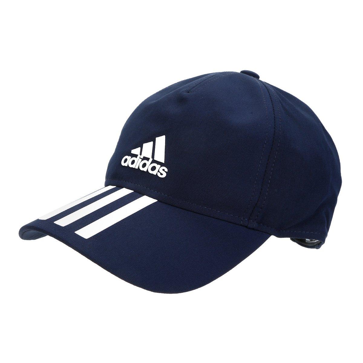 33fd3629347bc Boné Adidas Aba Curva C40 6P 3 Stripes Aba Curva - Shopping TudoAzul