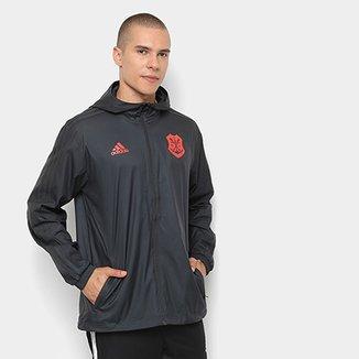 00d7280522f Jaqueta Corta-Vento Flamengo Adidas Capuz Masculina