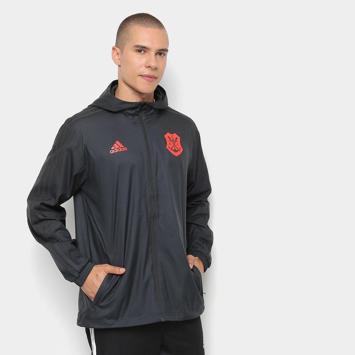 ef747c691 Jaqueta Corta-Vento Flamengo Adidas Capuz Masculina