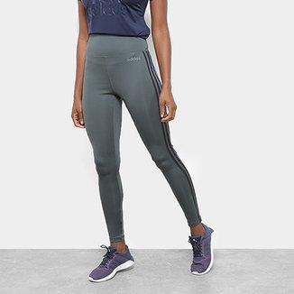 18481f869 Calça Legging Adidas Design 2 Move 3 Stripes Feminina