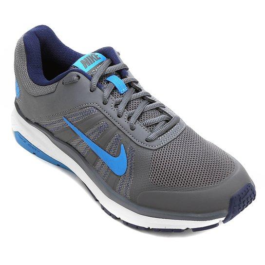 2cab102142 Tênis Nike Dart 12 MSL Masculino - Cinza e Azul - Compre Agora ...