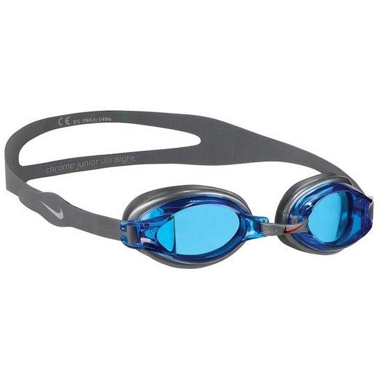 736a5b075 Óculos De Natação Nike Chrome - Blue - Cinza+Azul