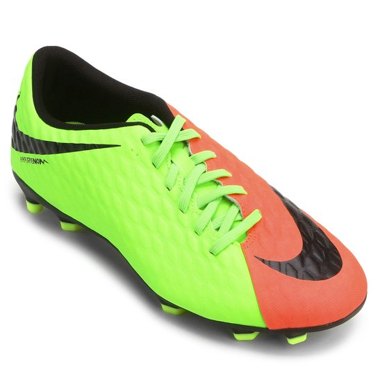 3d8813f4a0 Chuteira Campo Nike Hypervenom Phade 3 FG - Laranja+Verde