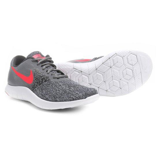 1a8129f8fac Tênis Nike Flex Contact Feminino - Cinza e Pink - Compre Agora ...