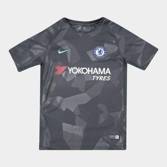 052cccc29073a Camisa Chelsea Juvenil Third 17 18 s n° - Torcedor Nike - Compre ...