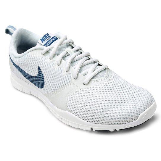 30d09f1f452 Tênis Nike Flex Essential TR Feminino - Cinza e Azul - Compre Agora ...