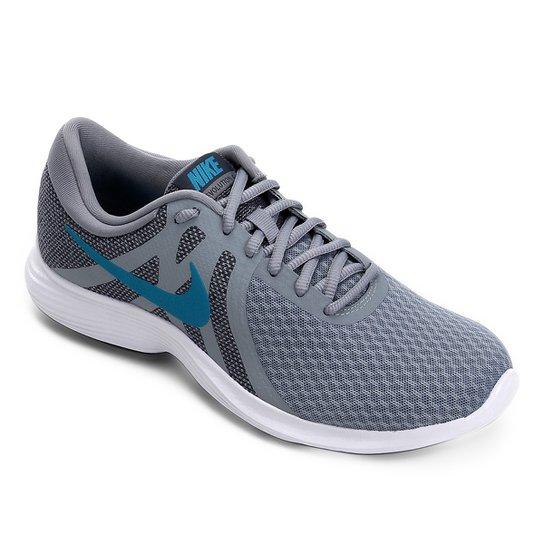 purchase cheap 0ada6 848b8 Tênis Nike Revolution 4 Masculino - Cinza e Azul   Netshoes