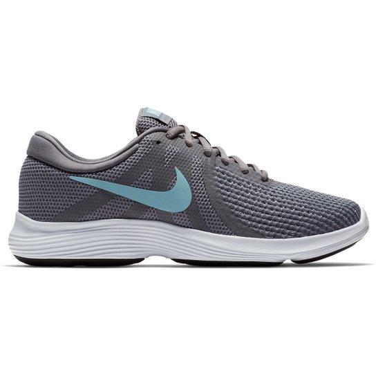845087df4b8 Tênis Nike Wmns Revolution 4 Feminino - Cinza e Azul - Compre Agora ...