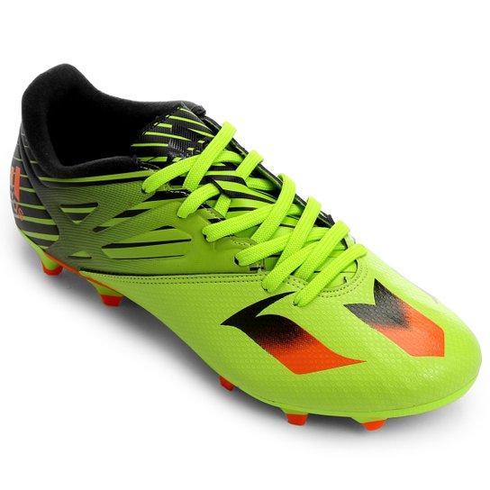 315580986e Chuteira Adidas Messi 15.3 FG Campo - Verde Limão+Laranja