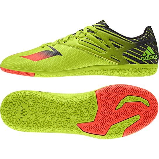 Chuteira Futsal Adidas Messi 15.3 IN Masculina - Verde Limão+Laranja 056ac3de92d7a