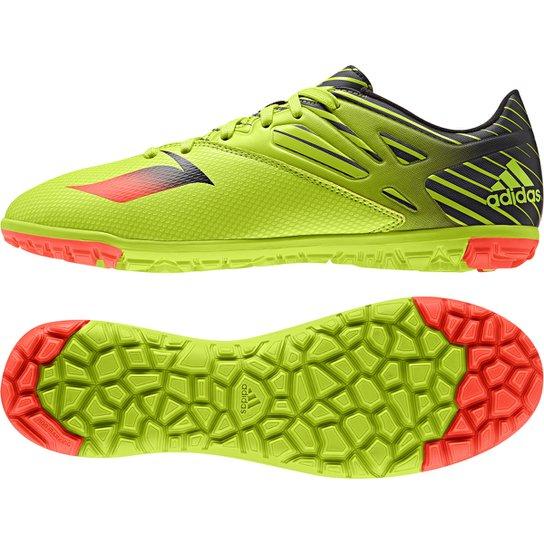 95b618087 Chuteira Society Adidas Messi 15.3 TF Masculina - Verde Limão+Laranja