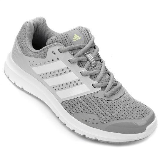 e0bd62fa20 Tênis Adidas Duramo 7 Feminino - Cinza e Branco - Compre Agora ...