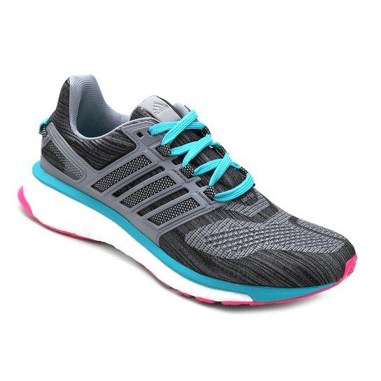 Tênis Adidas Energy Boost 3 Feminino - Cinza e Azul - Compre Agora ... debe067123ba3
