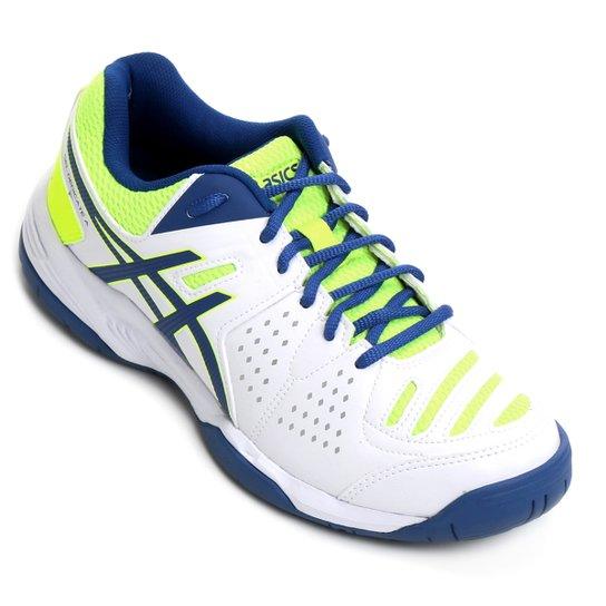c7b1b4b7a15 Tênis Asics Gel-Dedicate 4 A - Branco+Verde Limão