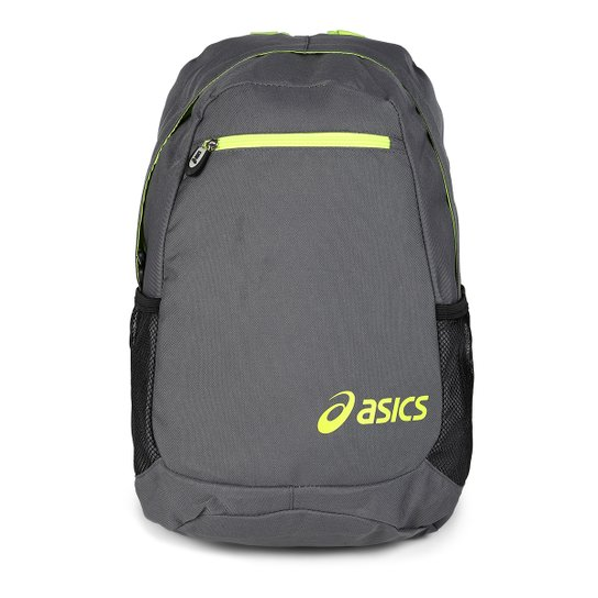 Mochila Asics Daily Backpack - Chumbo+Verde Limão 7b59800bd42