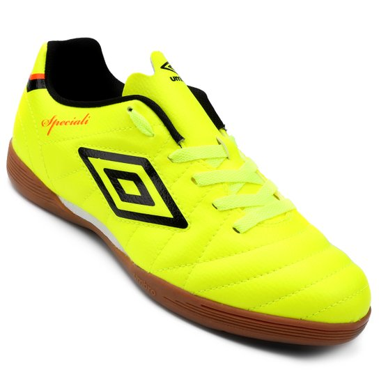 b9d10937c90bb Chuteira Futsal Umbro Speciali Club Masculina - Amarelo Fluorescente+Branco