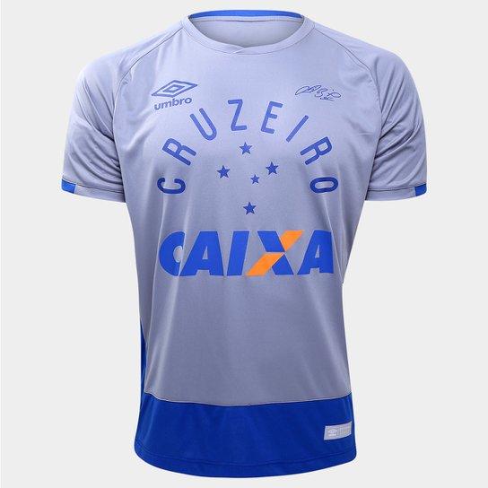 Camisa Cruzeiro Goleiro 2016 nº 1 - Fábio Torcedor Umbro Masculina -  Cinza+Azul 69b08605d65a0
