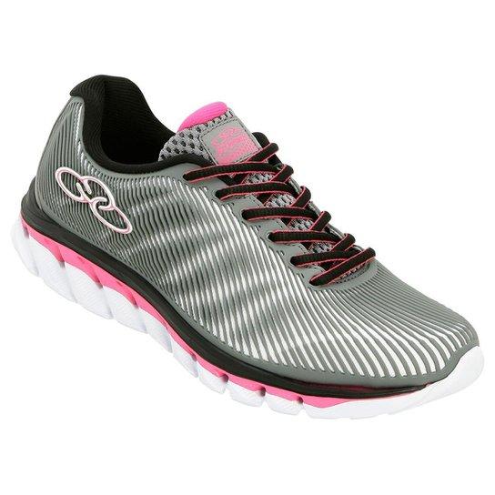 00a1398be08 Tênis Olympikus Perfect Feminino - Cinza e Pink - Compre Agora ...