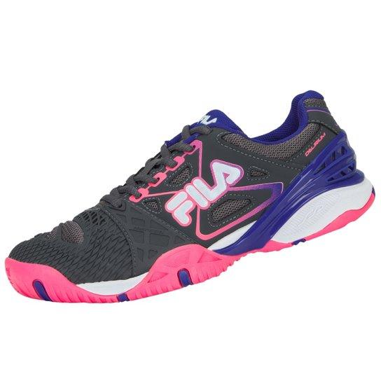 345d3a2c000 Tênis Fila Cage Delirium Indoor 4 - Cinza e Pink - Compre Agora ...