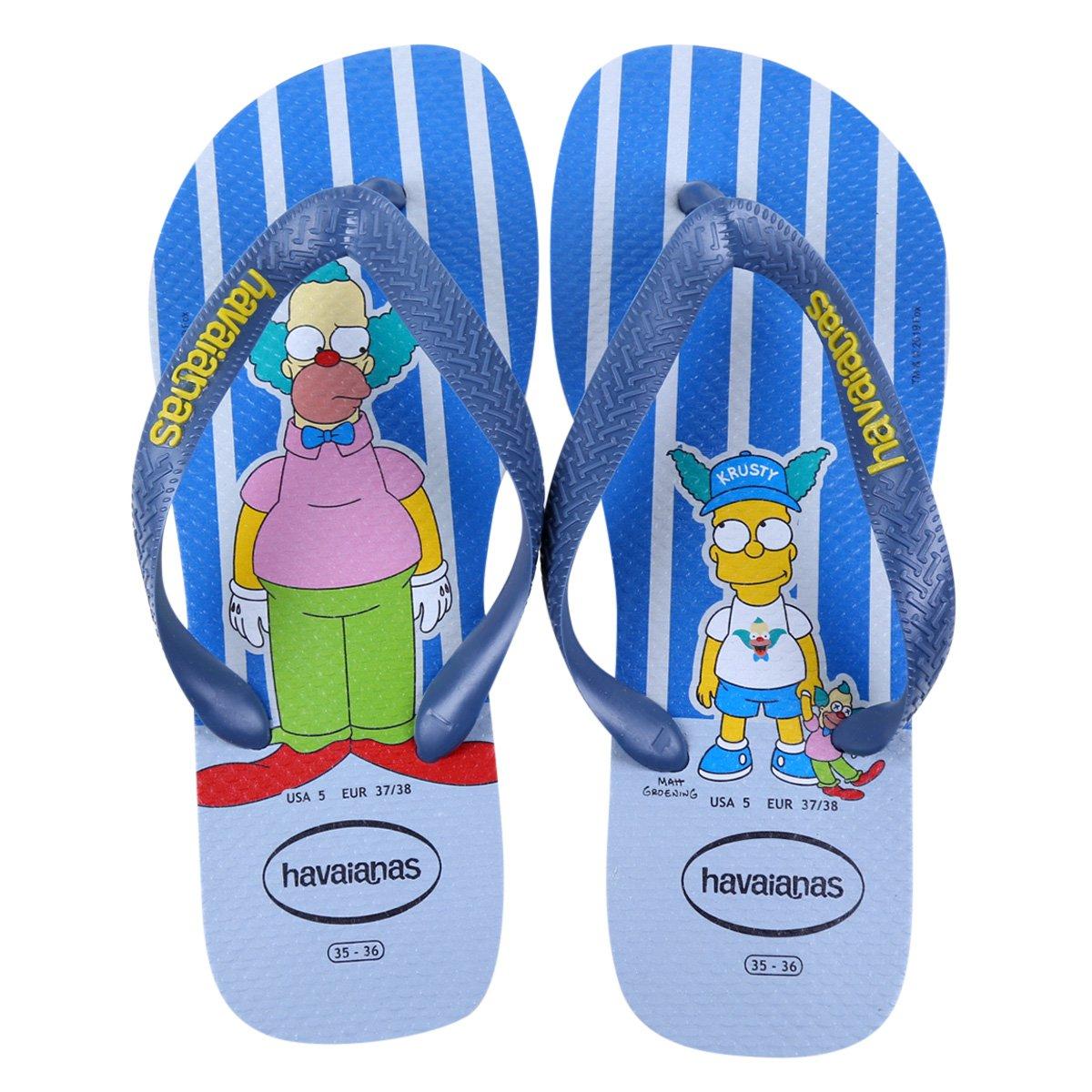 Chinelo Havaianas Estampado Os Simpsons