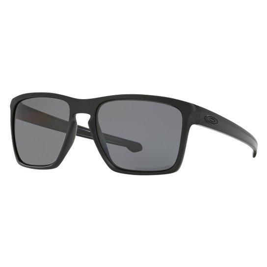 8ec38c90e Óculos de Sol Oakley Sliver Xl-Polarized Masculino - Chumbo e Preto ...