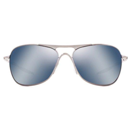 0028328bafe0a Óculos de Sol Oakley Crosshair Polarizado OO4060 06-61 Masculino - Chumbo