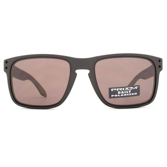 11b3849993c28 Óculos de Sol Oakley Holbrook Polarizado OO9102 B5-55 Masculino - Chumbo
