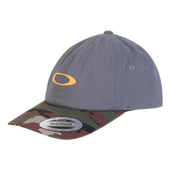 Boné Oakley Aba Reta Mod 6 Panel Military Hat - Chumbo - Compre ... fafb2cb0fc5