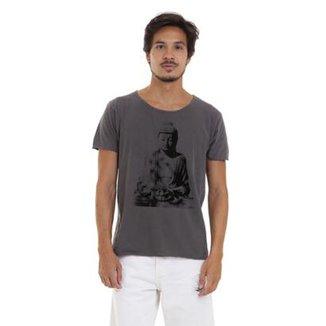 7d8a5ae6d4 Camiseta Estonada Corte À Fio Joss Buda Sentado Masculina