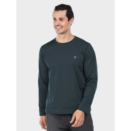 Camiseta Térmica para Frio Manga Longa com Proteção Solar Extreme UV -  Chumbo 32249fd68af47