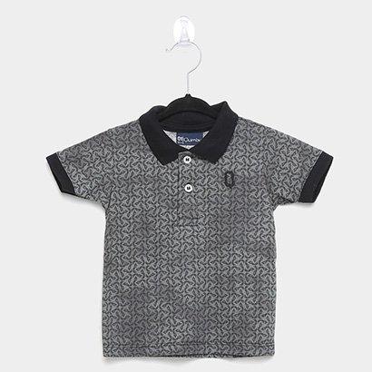 Camisa Polo Infantil Quimby Estampada Masculina