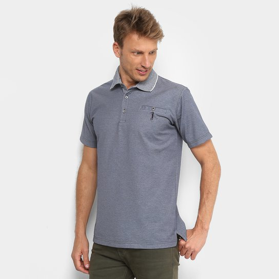 e68963b61b Camisa Polo Aleatory Piquet Bolso Masculina - Jeans