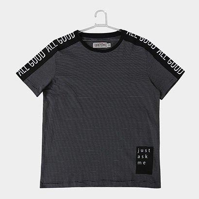 Camiseta Infantil Fakini Estampa Listrada Masculina