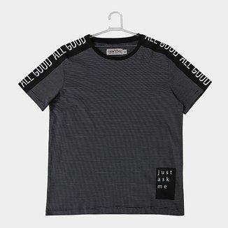 d25986fd0428a Camiseta Infantil Fakini Estampa Listrada Masculina