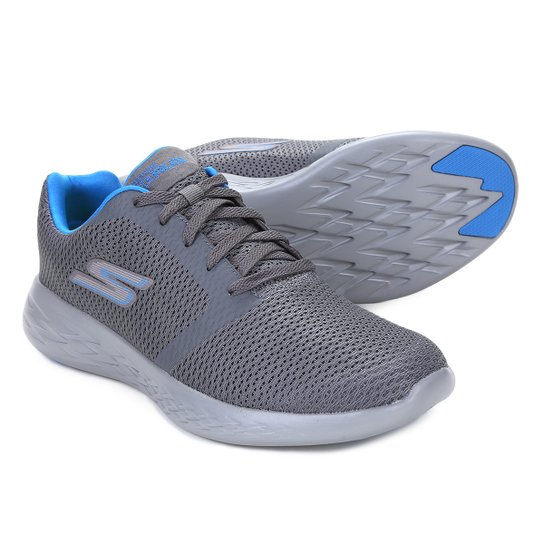 a67502d4b58 Tênis Skechers Go Run 600 Refine Masculino - Cinza e Azul - Compre ...