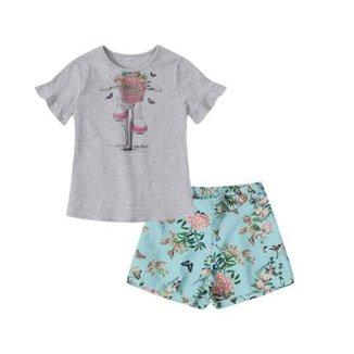 d1ed3d83a1 Conjunto Infantil Lilica Ripilica Floral Feminina