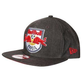 Boné New Era Red Bull Brasil Aba Reta 9Fifty Of St Closed Soccer Masculino 572bfe2471d3c