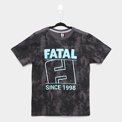 Camiseta Infantil Fatal Malha Masculina