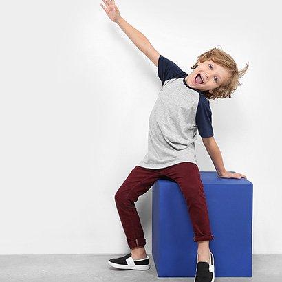Camiseta Infantil Zeep! Raglan Masculina