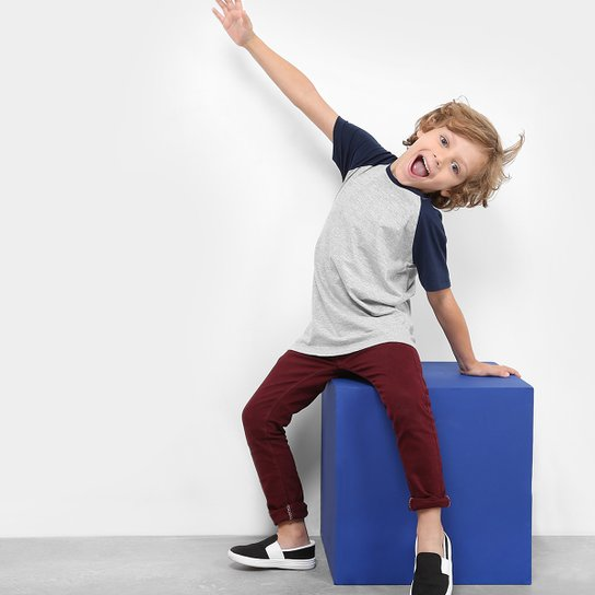 161a2801dd Camiseta Infantil Zeep! Raglan Masculina - Compre Agora