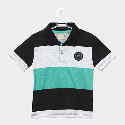 Camisa Polo Infantil Milon Estampa Listrada Masculina