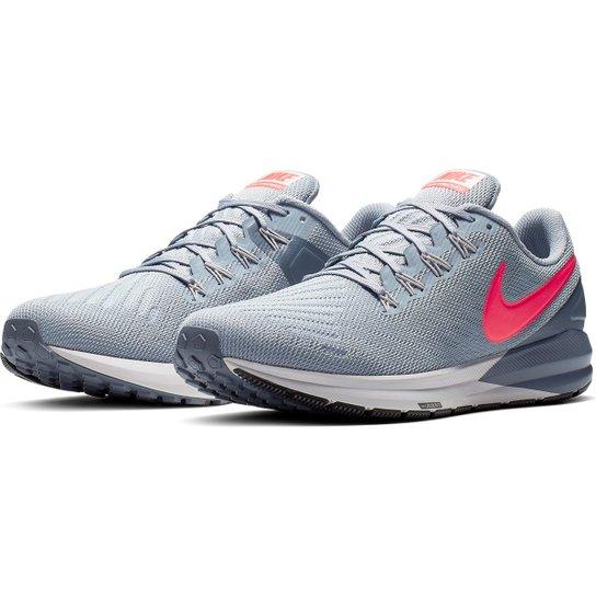 cdaecebb869740 Tênis Nike Air Zoom Structure 22 Masculino - Cinza e Pink | Netshoes