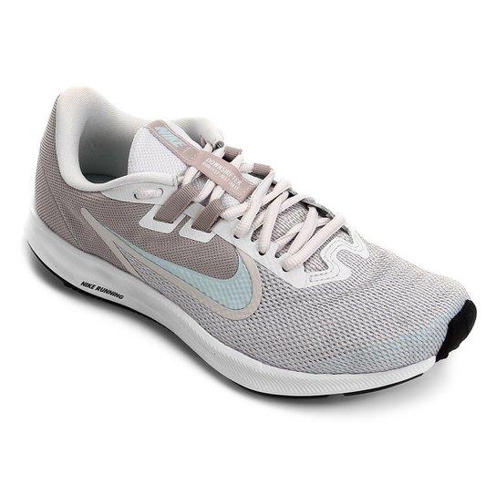 8a9a48427bc Tênis Nike Downshifter 9 Feminino - Cinza e Azul - Compre Agora ...